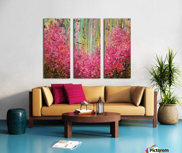 Floral Cascade  Split Canvas print