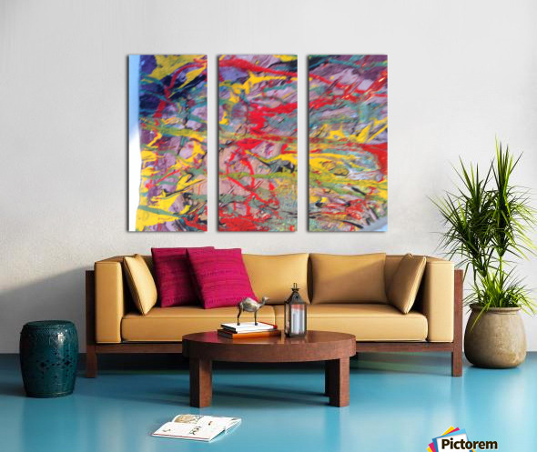 Vibrations Split Canvas print