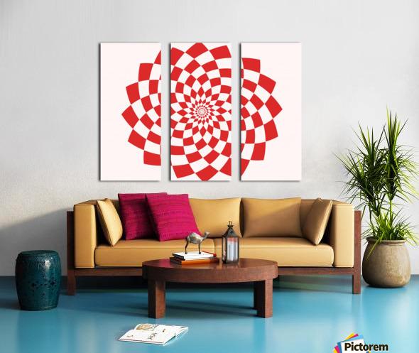 Red flake  Split Canvas print
