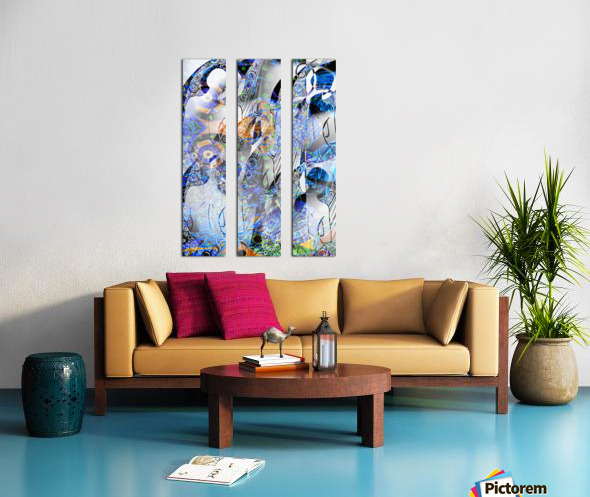 Lincarnation de la Lyre Split Canvas print