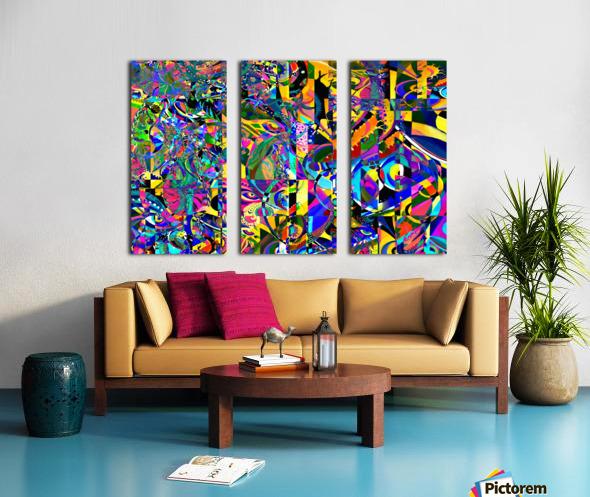 Eclosion fractale Split Canvas print