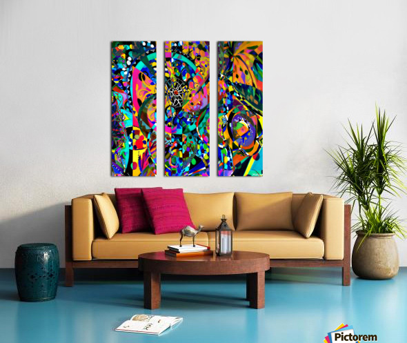 Tissage originel Split Canvas print