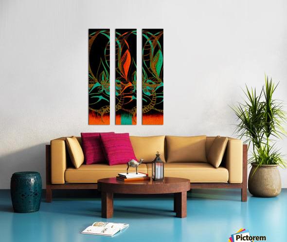 Synchronicit   temporelle Split Canvas print