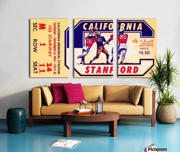 1964 California vs. Stanford Split Canvas print