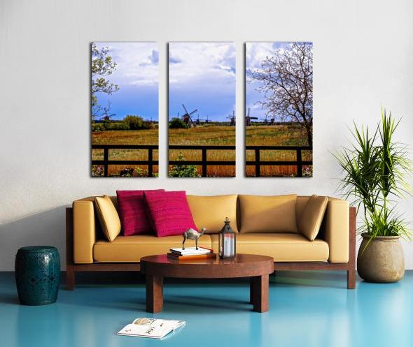 Windmills in Spring Split Canvas print