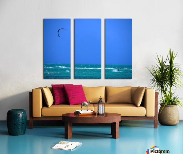 Wind Surf Hawaii Split Canvas print