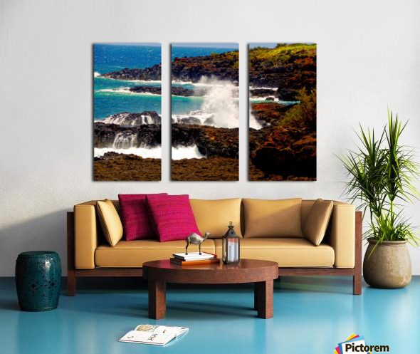 Rugged Kauai Split Canvas print