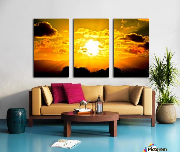 Fire in the Heavens Split Canvas print