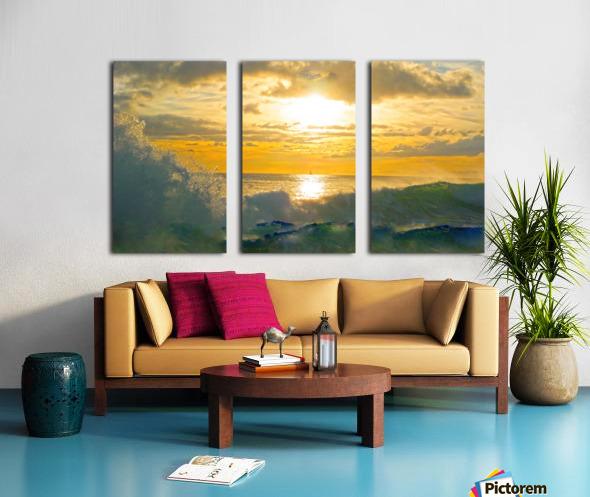 Into the Sunset Split Canvas print