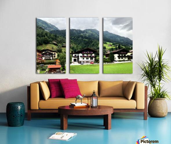 Hofgastein Dolomities Alpen Split Canvas print