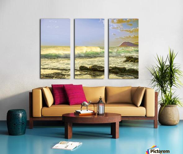 Spring Surge After the Storm Split Canvas print