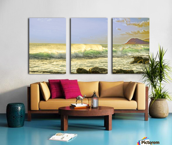 Spring Surge After the Storm Panorama Split Canvas print
