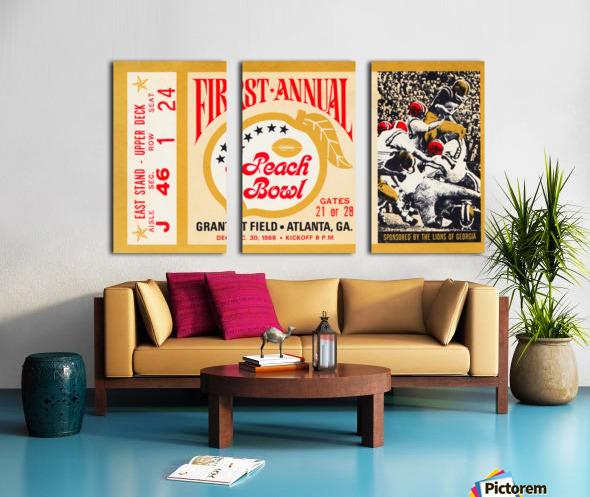 1968 First Peach Bowl LSU Win Split Canvas print