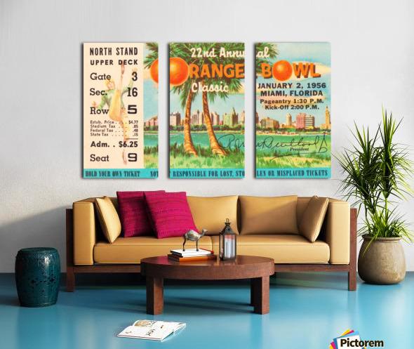 1956 Orange Bowl Oklahoma National Champs Split Canvas print