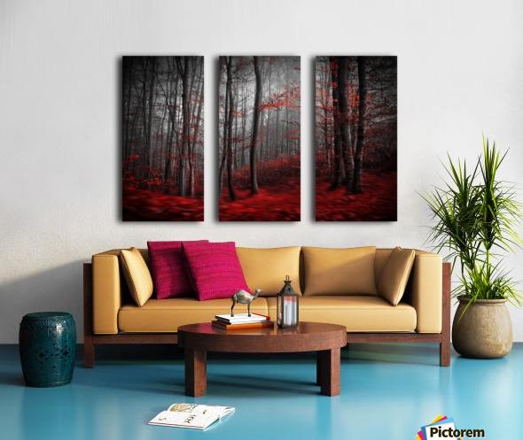 Bloody River Split Canvas print