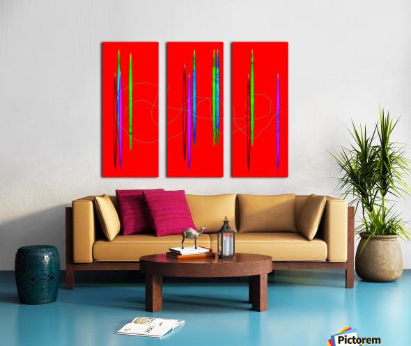 HorizonRed Split Canvas print