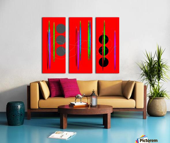 HorizonRedCircles Split Canvas print