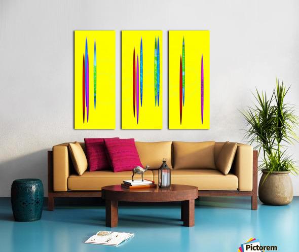 HorizonYellow Split Canvas print