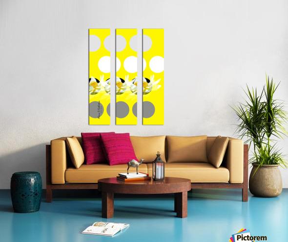 Lotus 3 Split Canvas print