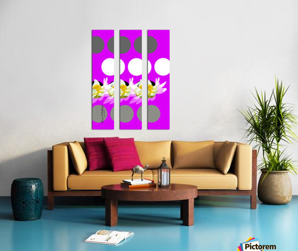 Lotus 4 Split Canvas print