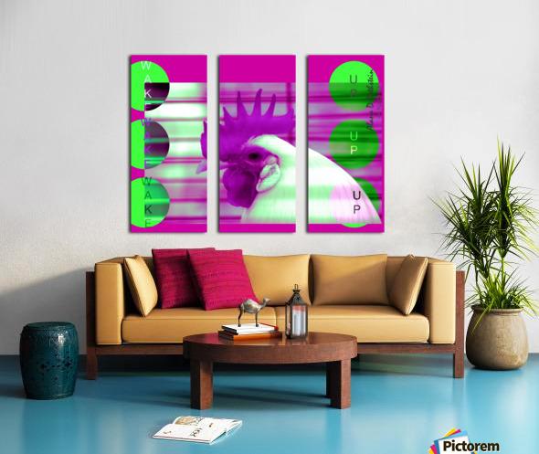 Wake Up 2021 Split Canvas print