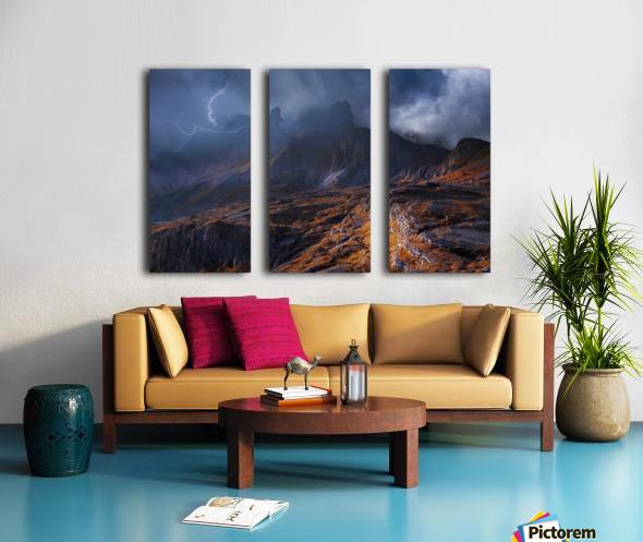 Bergwetter Split Canvas print