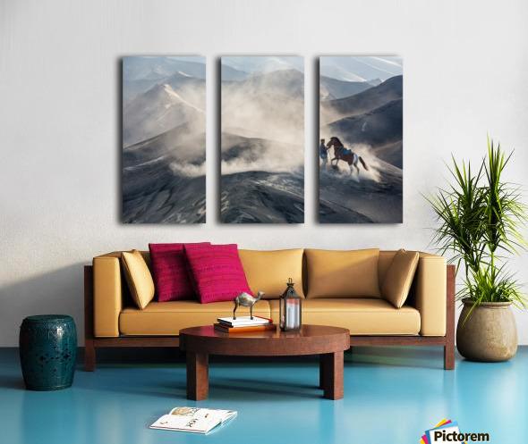 The Horseman Split Canvas print