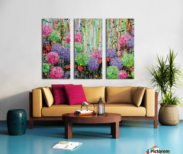 Summer Garden  Split Canvas print