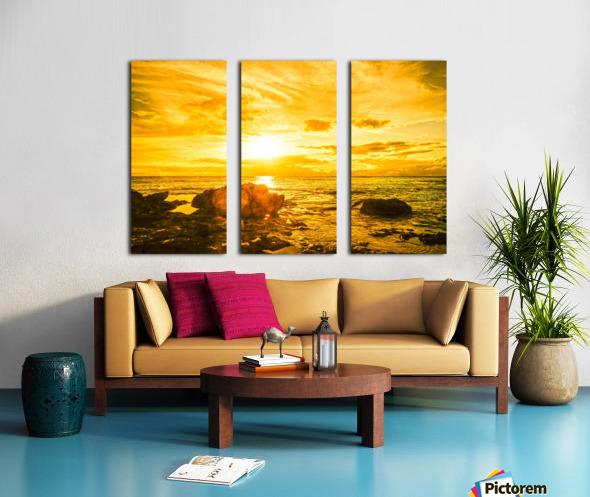 Majestic Sunset Split Canvas print