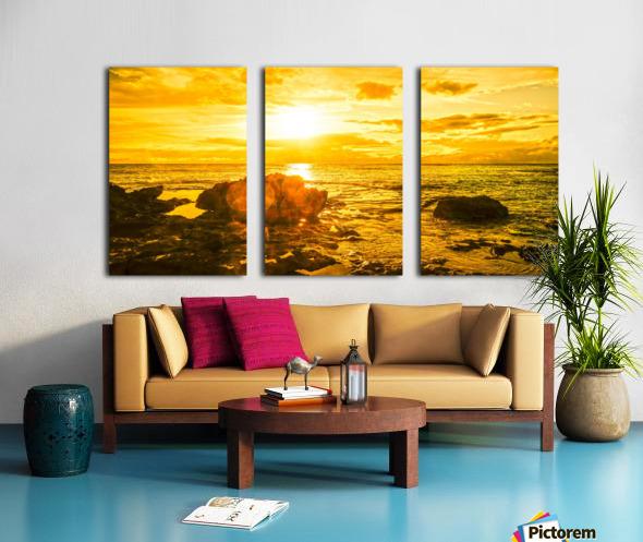 Majestic Sunset Panorama Split Canvas print