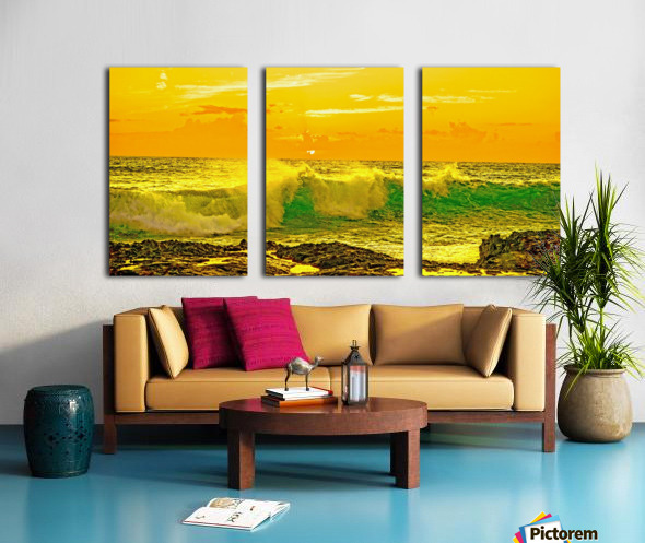 At the Sea Shore Panorama Split Canvas print