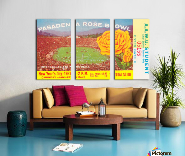 1961 Rose Bowl Washington Win Split Canvas print