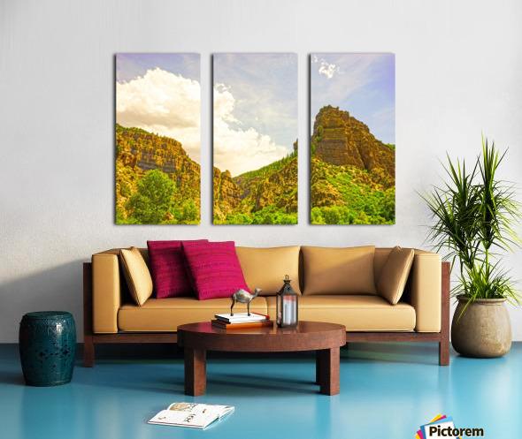 Golden Colorado Split Canvas print