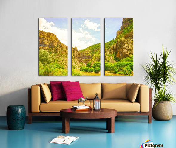 Golden Colorado 2 Split Canvas print