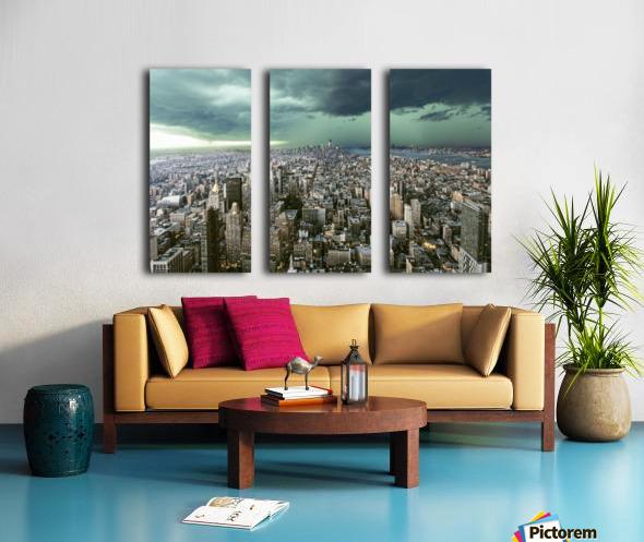 New-York under storm by Pagniez   Split Canvas print