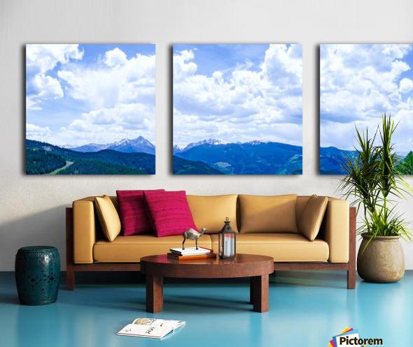 The Sawatch Range Colorado Split Canvas print