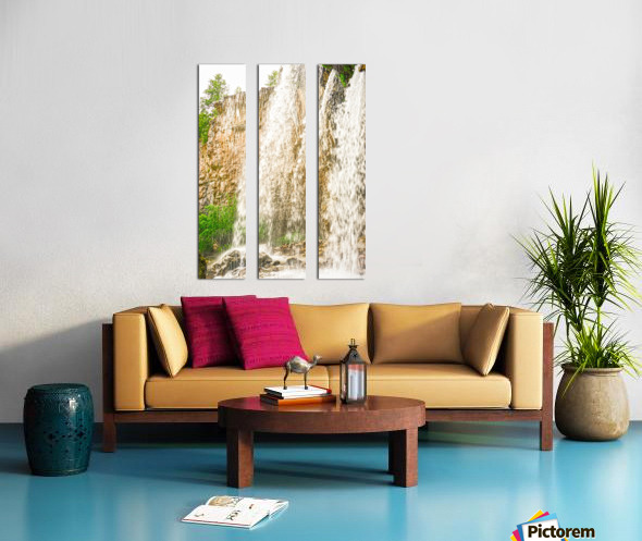 Rocky Mountain Rapids and Waterfalls 3 of 8 Split Canvas print
