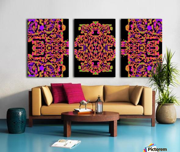 Martial Influx Split Canvas print