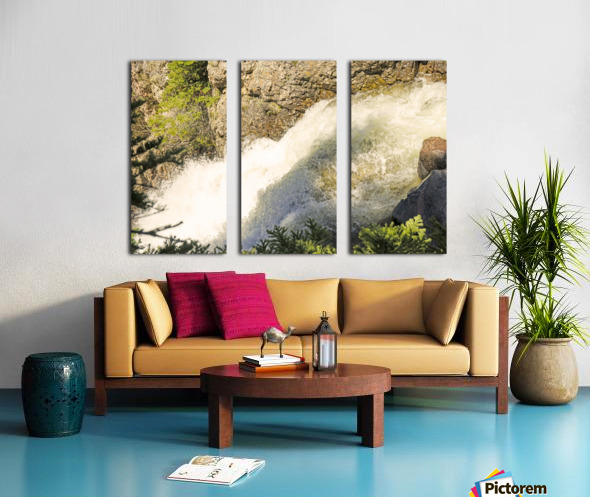 Rocky Mountain Rapids and Waterfalls 7 of 8 Split Canvas print