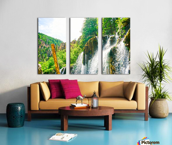 Waterfall Country Colorado 1 of 4 Split Canvas print