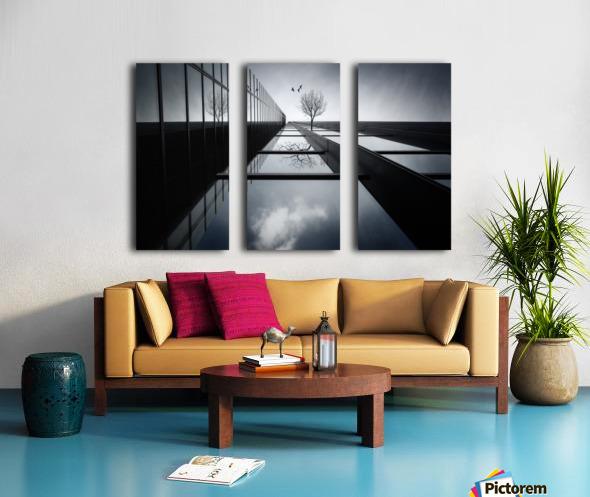 The Ethereal Flying Garden Split Canvas print