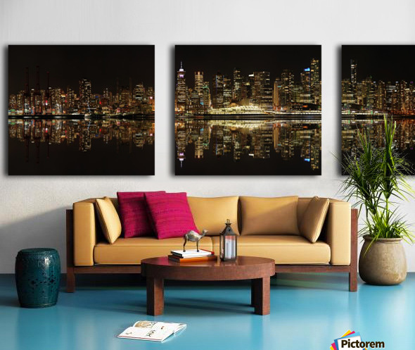 Vancouver Skyline Panorama  Split Canvas print