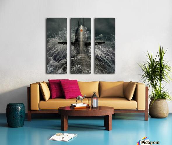 submarine Split Canvas print