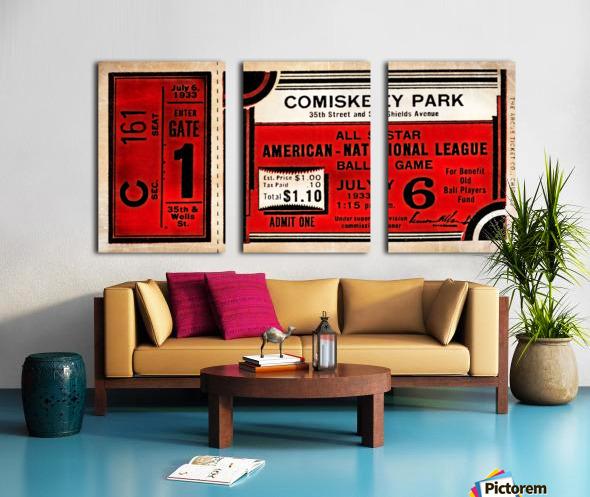 1933 Comiskey Park All-Star Game Ticket Art Split Canvas print