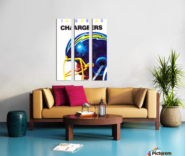 1985 San Diego Chargers Football Poster Split Canvas print