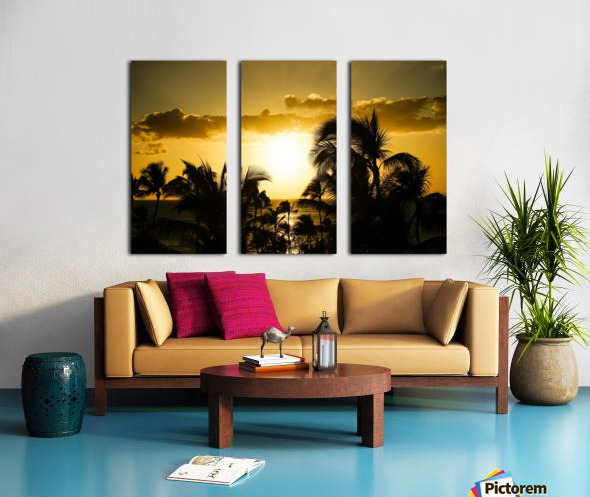 Radiant Hawaii Split Canvas print