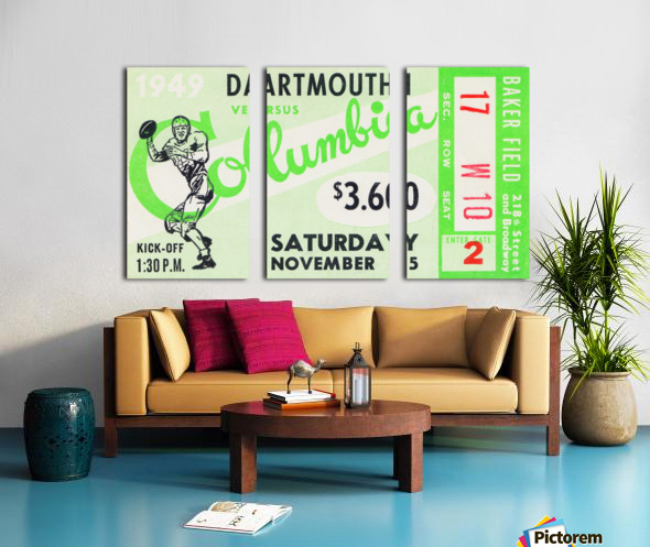 1949 Dartmouth vs. Columbia Split Canvas print