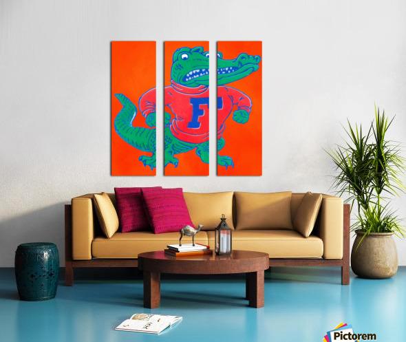 Retro Florida Gator Art Split Canvas print