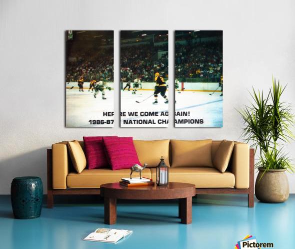 1987 University of North Dakota Hockey Split Canvas print