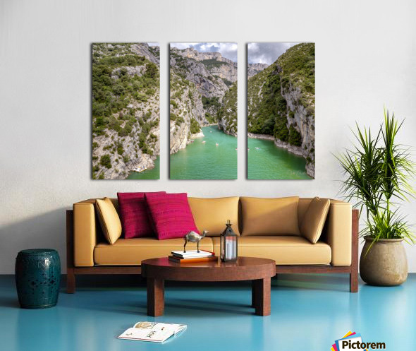 Les Gorges du Verdon Split Canvas print